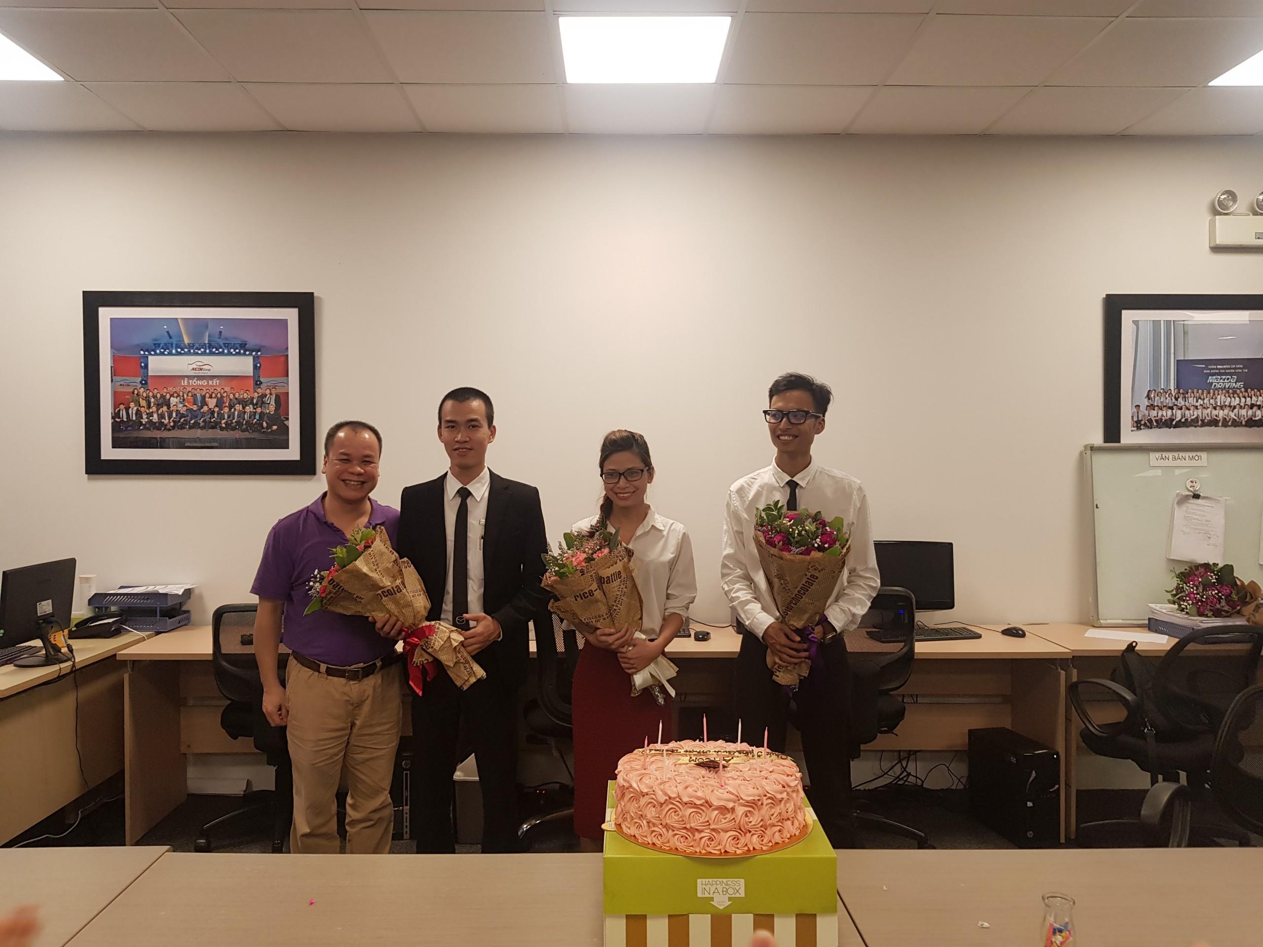 AHCOM tổ chức chúc mừng sinh nhật cho cán bộ nhân viên tháng 12/2018