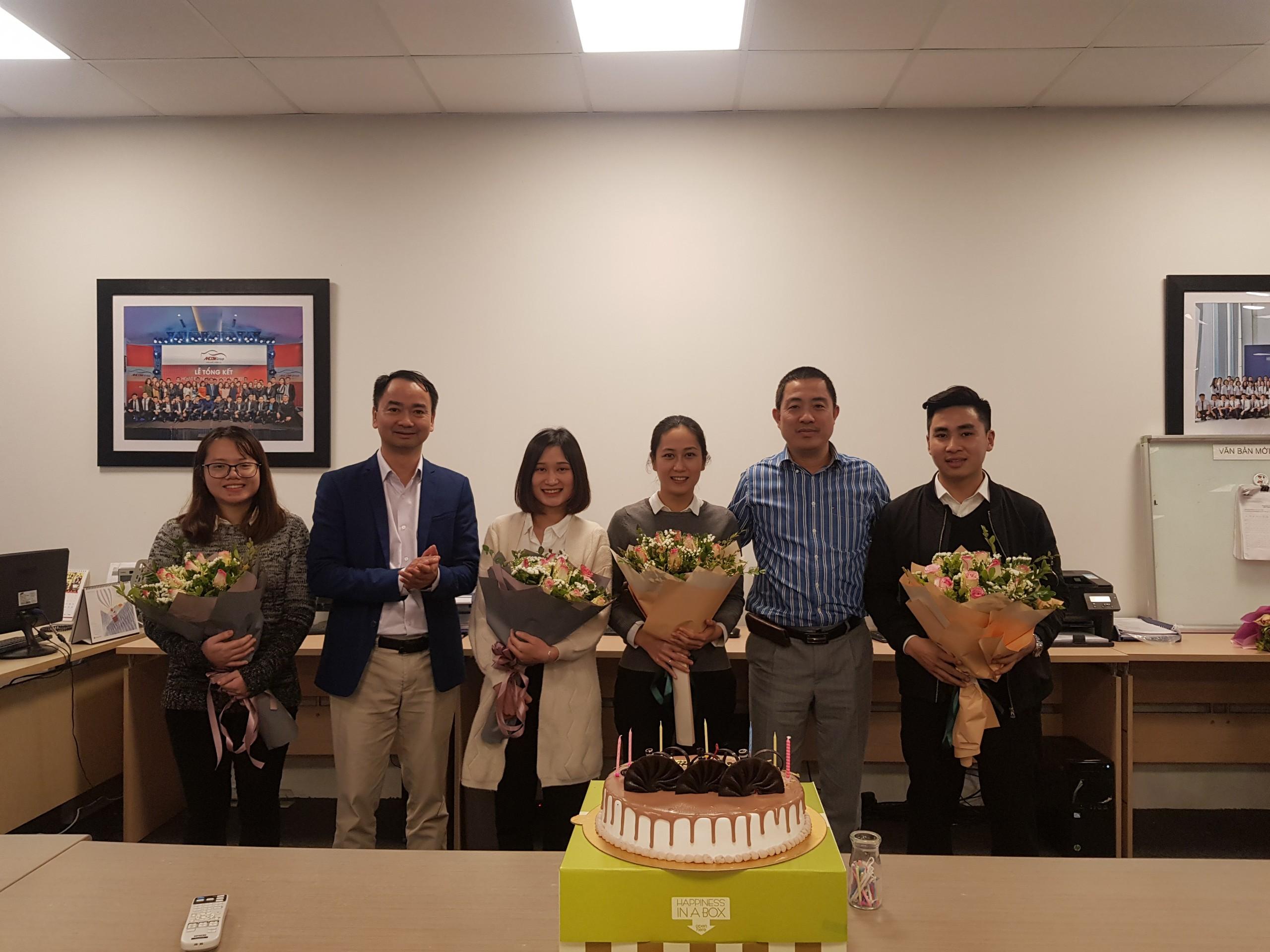 AHCOM tổ chức chúc mừng sinh nhật cho cán bộ nhân viên tháng 1/2019